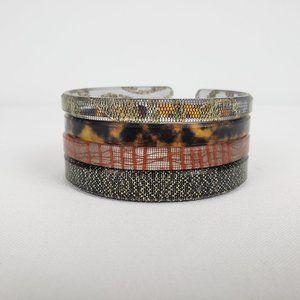 Color By Amber Gold & Black Bracelets